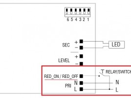 Beschaltung des LED-Treibers für programmierbaren Wert einer Nachtabsenkung