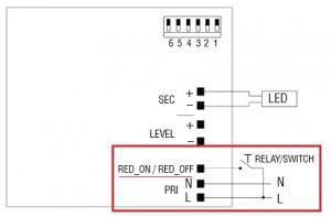 Beschaltung des LED Konverter Maxi Jolly Bilevel von TCI